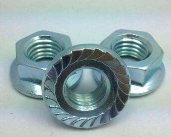 ANSI hex flange nut zinc plated a563