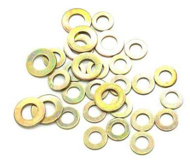 Mesin basuh rata bersalut zink kuning, sae, standard penggunaan