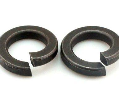 Mesin basuh spring polos oksida hitam DIN127 DIN128