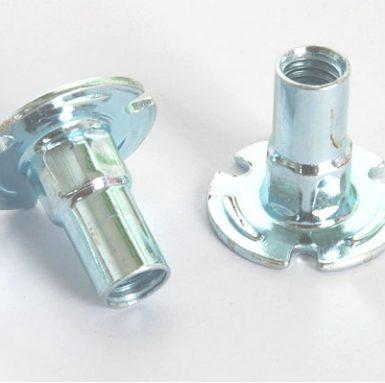 Nut palet keluli karbon putih zink