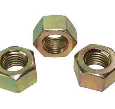 Nut hex DIN934 bersalut zink kuning